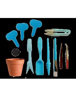Blue Terrarium Gardening Kit