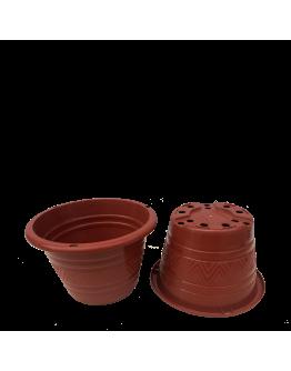 BABA TN-3468 Flower Design Pot (210mmØ x 140mmH)