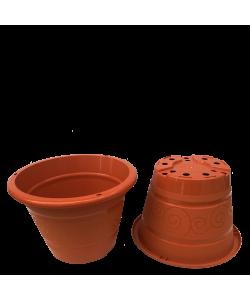 BABA TN-3469-B Flower Design Pot (245mmØ x 170mmH)