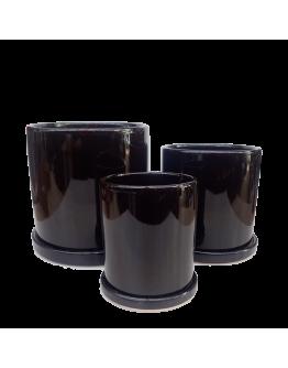 Modern Black Ceramic Pot