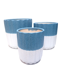 Elegant Sky Blue Design Ceramic Pot