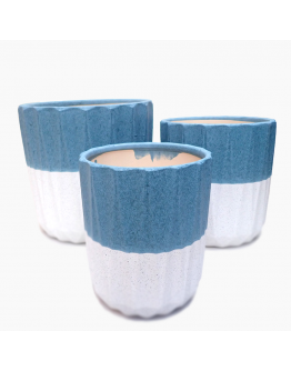 Elegant Sky Blue (Cachepot) Ceramic Pot