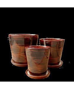 Ceramic 8056 Reddish Brown Pot