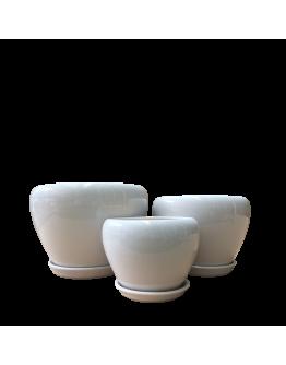 Classic White Bowl Ceramic Pot