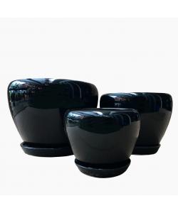 Ceramic 8089 Black Bowl Pot