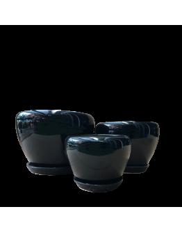 Classic Black Bowl Ceramic Pot