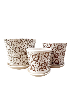 Ceramic 8081 Brown Flower