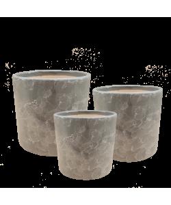 Grey Marble Ceramic Pot