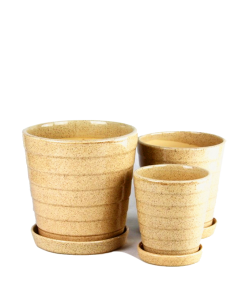 Beige Tiered Ceramic Pot