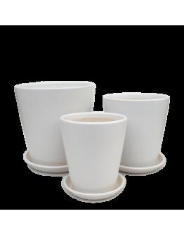 Minimalist White Ceramic Pot