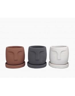 Nordic Concrete Face Pot