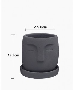 Nordic Concrete Face Pot