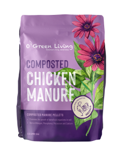 Composted Chicken Manure Pellets 2.5L Bag by O' Green Living 1L