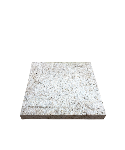 Square Bush Hammered Granite Pavers - White