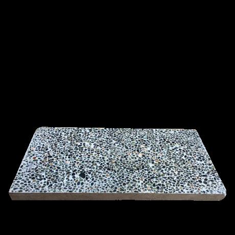 Rectangle Paving Concrete Slab Pebbles