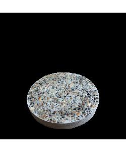 Round Paving Concrete Slab 14'' Small Pebbles