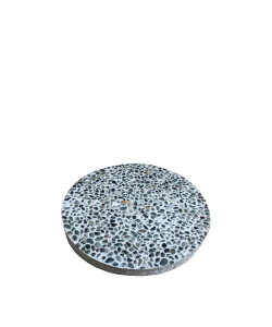 "Round Paving Concrete Slab 11"" Small Pebbles"