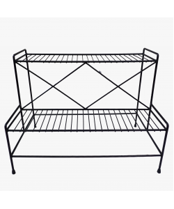 2 Tier Metal Flower Pot Stand 201C
