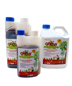 Bio-Organic Liquid Fertilizer - Twin Cap Bottle (with measuring compartment) by GROW
