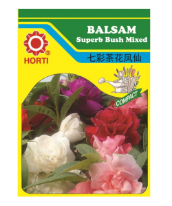 Balsam Superb Bush Mixed 七彩凤仙花 Seeds By HORTI