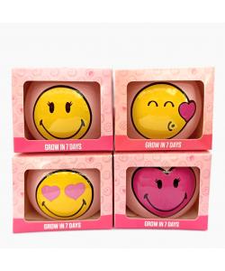 Cute Smiley Face Grass Grow Kits